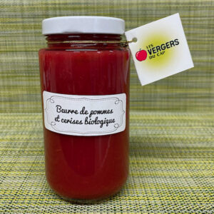 Beurre de pommes et cerises biologique - Les Vergers du Cap