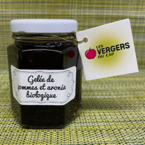 Gelée de pommes et aronia biologique - Les Vergers du Cap