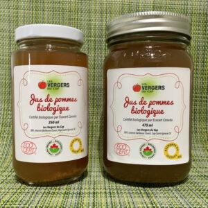 Jus de pommes biologique non filtré - Les Vergers du Cap