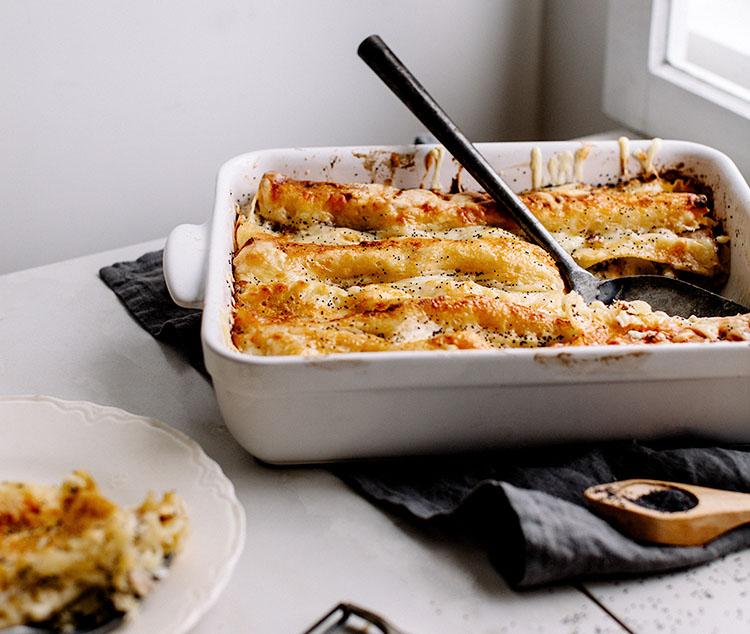 Lasagne Idee Recette.Lasagne Blanche Au Jambon Aux Pommes Vergers Du Quebec