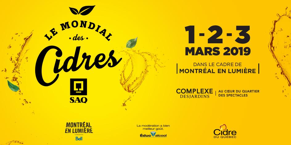 12e édition du Mondial des Cidres SAQ - Du 1er au 3 mars // dans le cadre de MONTRÉAL EN LUMIÈRE